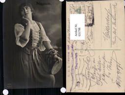631798,Sinti Roma Mignon Zigeuner Tamburin - Ansichtskarten