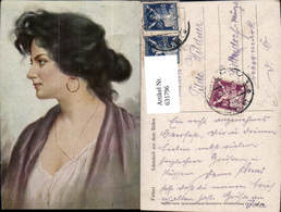 631796,Künstler Ak Fattori Schönheit Aus D. Süden Sinti Roma Mignon Zigeuner - Ansichtskarten