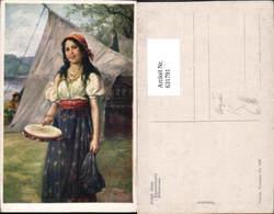 631791,Künstler Ak Josef Süss Zigeunermädel Sinti Roma Mignon Zigeuner - Ansichtskarten