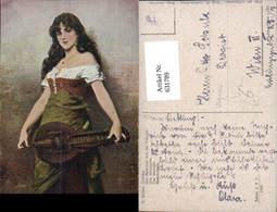 631789,Künstler Ak N. Sichel Das Mädchen A. D. Fremde Sinti Roma Mignon Zigeuner - Ansichtskarten