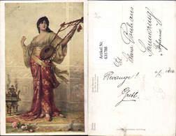 631788,Künstler Ak Sichel Orient-Schönheit Sinti Roma Mignon Zigeuner - Ansichtskarten