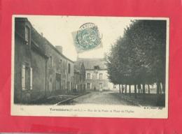 CPA -  Terminiers  -(E.-et-L.) - Rue De La Poste Et Place De L'église - Francia