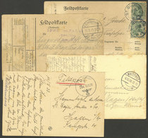 GERMANY: 4 FELDPOST Cards Of 1915 To 1938, Interesting! - Covers & Documents