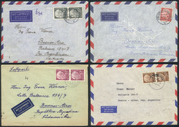 GERMANY: 13 Covers Sent To Argentina Between 1954 And 1965 With Varied Postages, General Quality Is Very Ifne, Michel Ca - Covers & Documents
