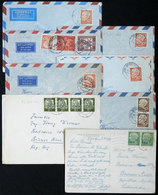 GERMANY: 17 Covers Sent To Argentina In The 1950s (mostly), With Nice And Interesting Postages, Michel Catalog Value Eur - Covers & Documents