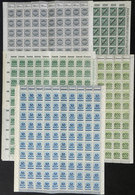GERMANY: 450 Old Stamps Of The Hyperinflation Period, In Complete Sheets Of 100 Or Half Sheets, All MNH And Of Excellent - Colecciones