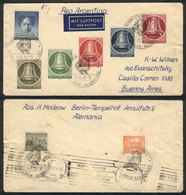 GERMANY - BERLIN: Airmail Cover Sent To Argentina On 14/JUL/1952, Franked By Yvert 68/72 + 73 + Other Values On Back, Wi - [5] Berlin