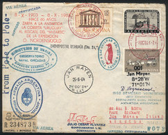 ARGENTINE ANTARCTICA (ORKNEY ISLANDS): MAIL SENT FROM SOUTH POLE TO NORTH POLE: Cover Sent From Orcadas Base To Jan Maye - Briefmarken