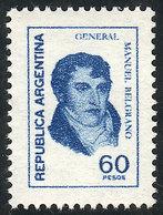 ARGENTINA: GJ.1754N, 60P. Belgrano, Printed On UV NEUTRAL PAPER, Excellent Quality, Rare! - Argentina