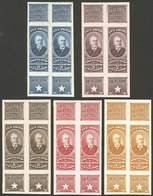 ARGENTINA: Impuesto Sanitario, 5 PROOFS Of Revenue Stamps For Natural MINERAL WATER San Pellegrino, Pairs, VF! - Altri