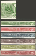 "ARGENTINA: Impuesto Sanitario, 6 PROOFS Of Revenue Stamps For ""Chinosol, Franz Fritzsche & Cia."" (illustrated With OWLS  - Altri"