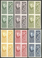 """ARGENTINA: Impuesto Sanitario, 6 PROOFS Of Revenue Stamps For """"GARFIELD, Of M. Figallo & Cía."""", Pairs, VF Quality!"""" - Altri"""