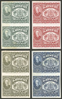 """ARGENTINA: Impuesto Sanitario, 4 PROOFS Of Revenue Stamps For """"KRISTALY Mineral Water"""", Pairs, VF Quality!"""" - Altri"""