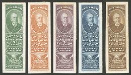 "ARGENTINA: Impuesto Sanitario, 5 PROOFS Of Revenue Stamps For ""Lanman & Kemp, New York"", VF Quality!"" - Altri"
