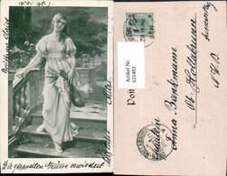 631493,Künstler Ak Sinti Roma Mignon Zigeuner Mandoline - Ansichtskarten