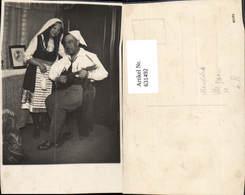 631492,Foto Ak Paar Sinti Roma Mignon Zigeuner Mandoline - Ansichtskarten