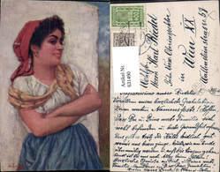 631490,Künstler Ak Jos. Zenisek Lustige Stimmung Sinti Roma Mignon Zigeuner - Ansichtskarten