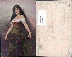 631489,Künstler Ak N. Sichel Das Mädchen A. D. Fremde Sinti Roma Mignon Zigeuner Mand - Ansichtskarten