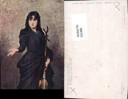 631488,Künstler Ak N. Sichel Die Bettlerin V. Pont Des Arts Sinti Roma Mignon Zigeune - Ansichtskarten