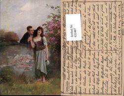 631487,Künstler Ak E. Schneider Junge Liebe Sinti Roma Mignon Zigeuner - Ansichtskarten