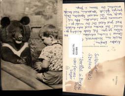 631484,Foto Ak Kind Bub Junge M. Bär Tiere - Bären