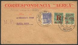BRAZIL: Airmail Cover Flown By VARIG From Pelotas To Santa Cruz On 21/FE/1931, Franked By RHM.V-4 + V-13, Value Of The S - Brasile