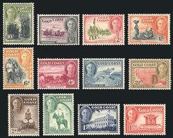 GOLD COAST: Sc.130/141, 1948 Complete Set Of 12 Mint Values, VF Quality! - Gold Coast (...-1957)
