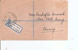 Malaisie ( Lettre Recommandée De 1971 De AyerTawar Vers Penang à Voir) - Malayan Postal Union