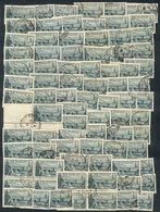 FRANCE: Yvert 394, 1938 Port Of St. Malo, 145 Very Good Used Stamps (including 3 Blocks Of 4), Catalog Value Euros 3,045 - France