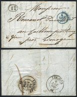 FRANCE: Entire Letter Dated Paris 2/NO/1836 To Limoges, With Interesting Postal Marks On Front And Reverse, VF Quality! - France
