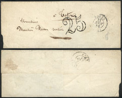 FRANCE: Folded Cover Sent From Rouen To Totes On 12/AU/1851, VF Quality! - France
