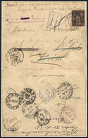 FRANCE: Cover (opened On 3 Sides For Display) Sent From AUCH To Sao Paulo On 26/MAR/1895, Franked With 25c., As The Addr - France