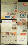 FRANCE: 15 Covers Posted Between 1925/1946, Most To Brazil, Interesting! - France