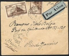 FRANCE: Airmail Cover Franked With 10Fr., Sent From Nice Sr. Barthelemie To Rio De Janeiro On 10/OC/1931, Handsome! - France