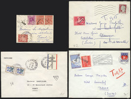 FRANCE: 4 Covers Used Between 1936 And 1972, All WITH POSTAGE DUES: From Argelia To Toul (in 1936) With Dues For 30c., O - Unclassified