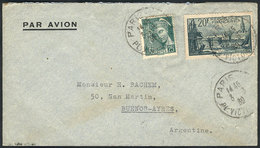 FRANCE: Cover Franked With 20.25Fr., Sent From Paris To Argentina On  3/MAY/1939, VF Quality! - France
