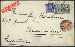FRANCE: Cover Franked With 20.25Fr., Sent From Paris To Argentina On  15/JUL/1939, VF Quality! - France