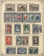 FRANCE: Collection On Pages (circa 1850 To 1950), With Mint (mostly Lightly Hinged, A Few Without Gum) Or Used Stamps, F - Unclassified