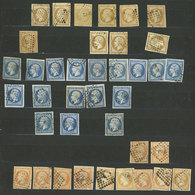 FRANCE: Stock Of Good Old Stamps, Used, In Stockbook, With Wide Range Of Shades And Cancels, The General Quality Is Fine - France