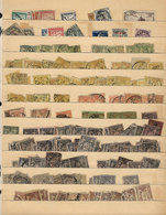 FRANCE: Stock Pages With Large Number (SEVERAL HUNDREDS) Of Old Stamps, Completely Unchecked, The Expert Will Surely Fin - France