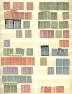 FRANCE: Huge Stock Of Mint Stamps (many With, In General, Light Hinge Marks, Several MNH Perfect, And Some Without Gum), - France