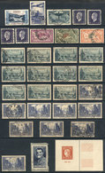 FRANCE: Lot Of Interesting Stamps, Most Used, General Quality Is Fine To Very Fine, Yvert Catalog Value Over Euros 550 ( - Unclassified