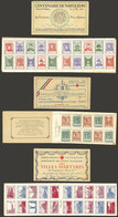 FRANCE: 3 Old Booklets Of Charity Labels, Complete, With Some Stains But Very Attractive! - Cinderellas