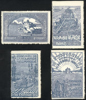 FRANCE: Agricultural Machinery, 4 Cinderellas Of The Year 1912, VF And Rare! - Cinderellas