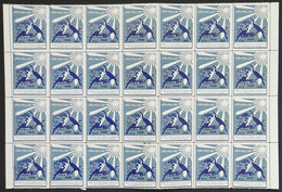IRAN: FIGHT AGAINST TUBERCULOSIS: 1966 Issue, Large Block Of 28 Cinderellas, MNH, 2 Or 3 With Defects, Excellent General - Cinderellas