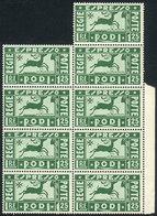 ITALY - RODI: Sc.E1, 1936 1.25L. In Block Of 9 Stamps, MNH, VF! - Aegean (Rodi)