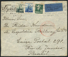 NORWAY: Airmail Cover Sent From Trondheim To Brazil On 26/JUL/1938 Via Germany DLH, Very Interesting! - Norway