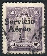 "PERU: Yvert 1, ""El Marinerito"", 1927 50c. Used, First Printing, Overprint Type II (of The Matrix Of 5 Types That Is Repe - Peru"