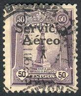 """PERU: Yvert 1, """"El Marinerito"""", 1927 50c. Used, First Printing, Overprint Type IV (of The Matrix Of 5 Types That Is Repe - Peru"""