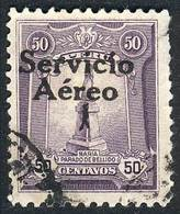 """PERU: Yvert 1, """"El Marinerito"""", 1927 50c. Used, First Printing, Overprint Type V (of The Matrix Of 5 Types That Is Repea - Peru"""